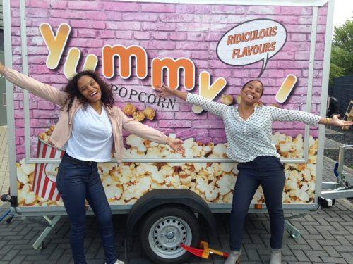 Yummy Popcorn foodtrailer Charissa en Yuandi