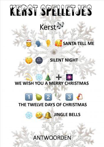 Antwoorden kerstspel emoji liedjes