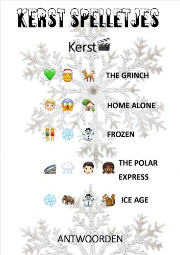 antwoorden kerstspel emoji films
